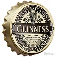 Guinness Screwcap Bottle Opener Magnet With Classic Collection Label Design B06X1FNT3D