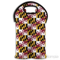 Maryland State Flag 2 Bottle Wine Carrier Wine Tote Carrier Bag Purse for Champagne Wine Water Bottles,Wine Bottle Carrier. B07L769G5T