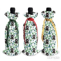 Wine Bottle Covers Bear and Green Jungle Wrap Home Party Decoration Champagne Bottle Bags-Dinner Party Table DÃcor B07L76NPKR